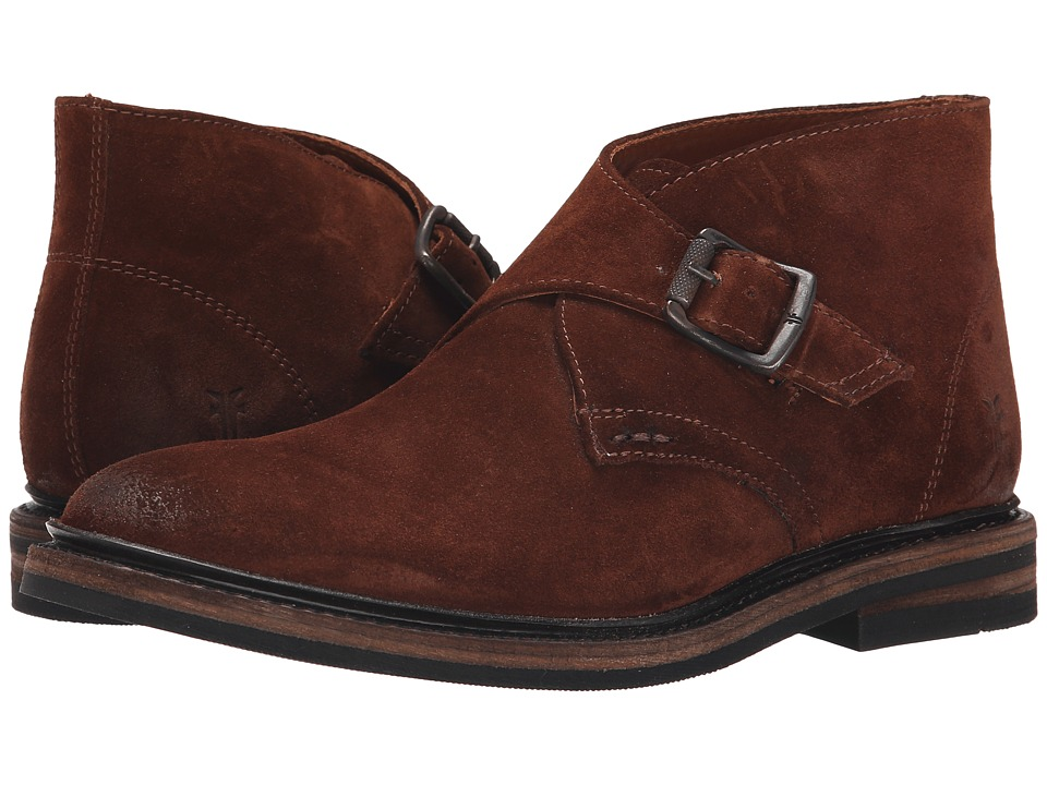 Frye - William Monk Chukka (Brown Oiled Suede) Men's Dress Pull-on Boots