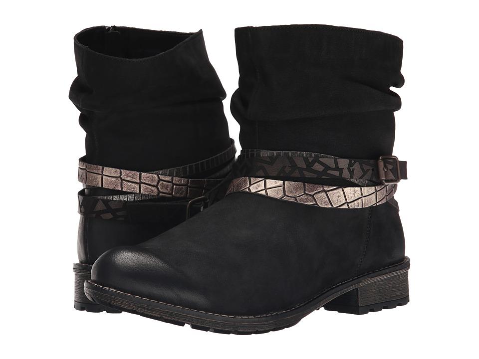 Rieker - R3354 (Schwarz Talamon/Antik Australia/Altgold Crocodile) Women's Zip Boots