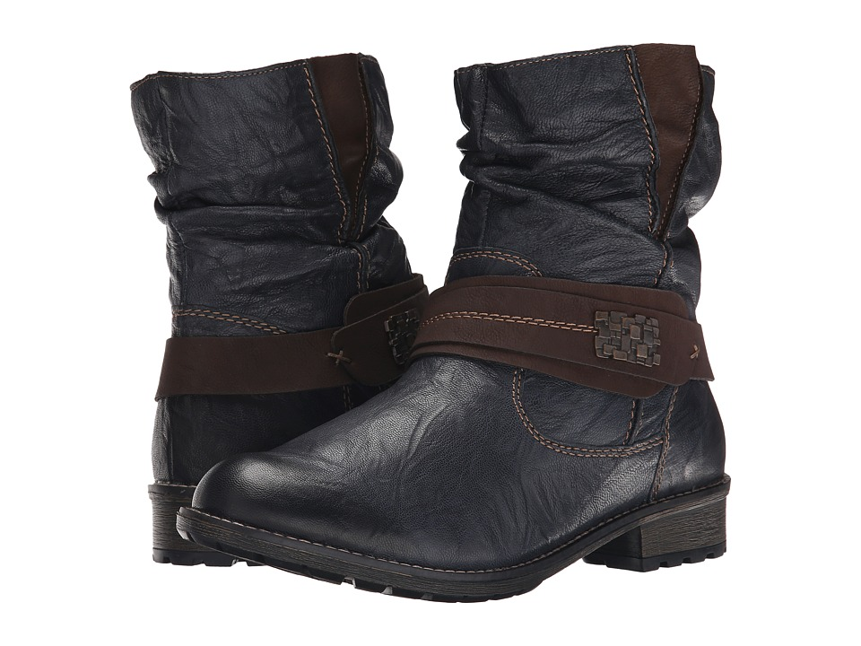 Rieker - R3386 (Navy Ottawa/Kakao Nil) Women's Dress Boots