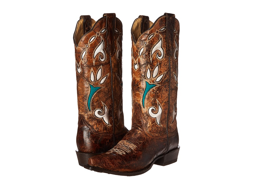 Stetson - Vintage Tulip (Distressed Vintage Brown) Women's Pull-on Boots