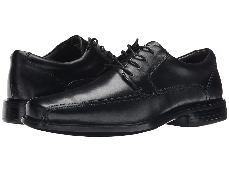 Dockers - Perry (Black Polished Full Grain) Men's Plain Toe Shoes
