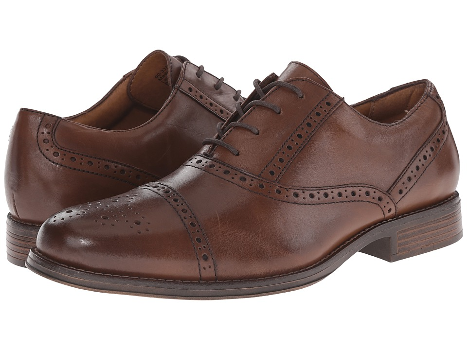 Dockers - Hamblen (Cognac Burnished Full Grain) Men's Lace Up Cap Toe Shoes
