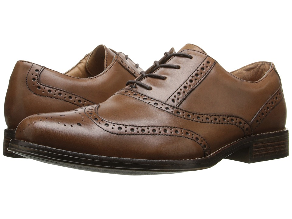 Dockers - Corinth (British Tan Burnished Full Grain) Men's Lace Up Wing Tip Shoes