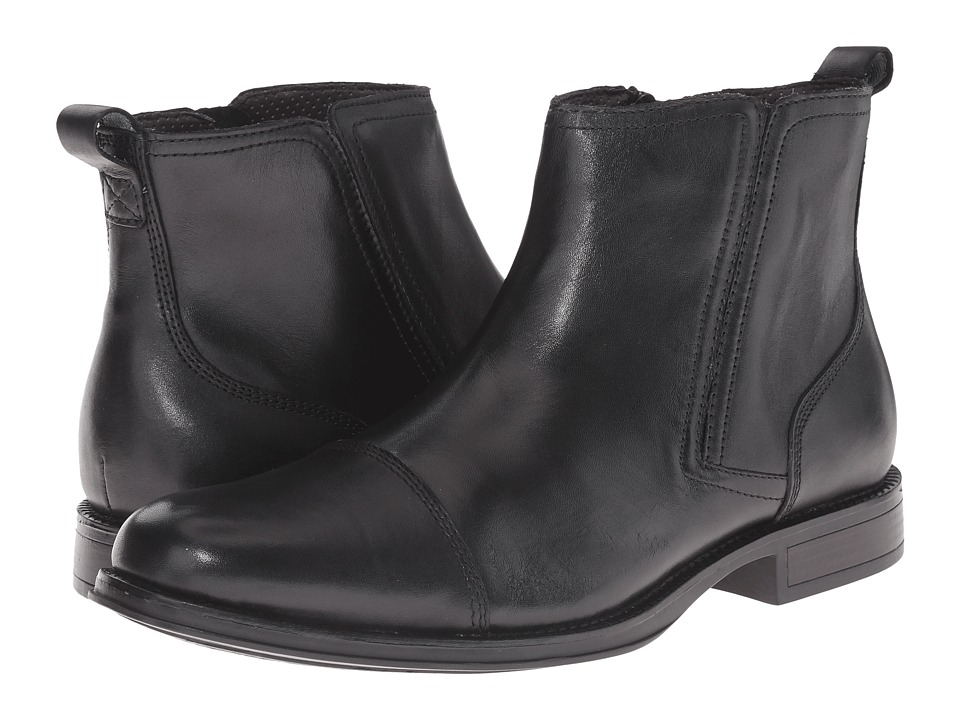 Dockers - Asti (Black Polished Full Grain) Men's Pull-on Boots