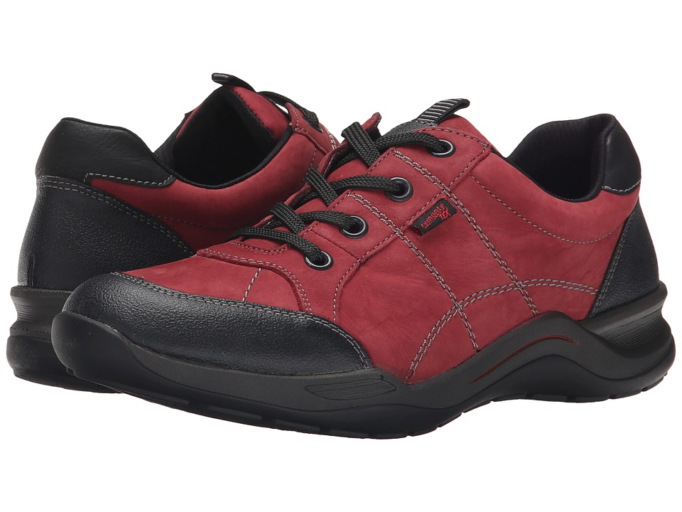 Rieker - R5404 (Schwarz Jura/Wine Crok/Schwarz Belinga) Women's Lace up casual Shoes