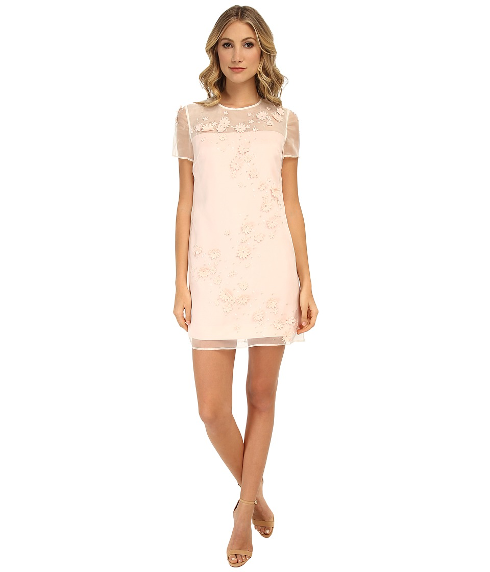 Ted Baker - Findon Embellished Floral Tunic (Nude Pink 2) Women's Dress