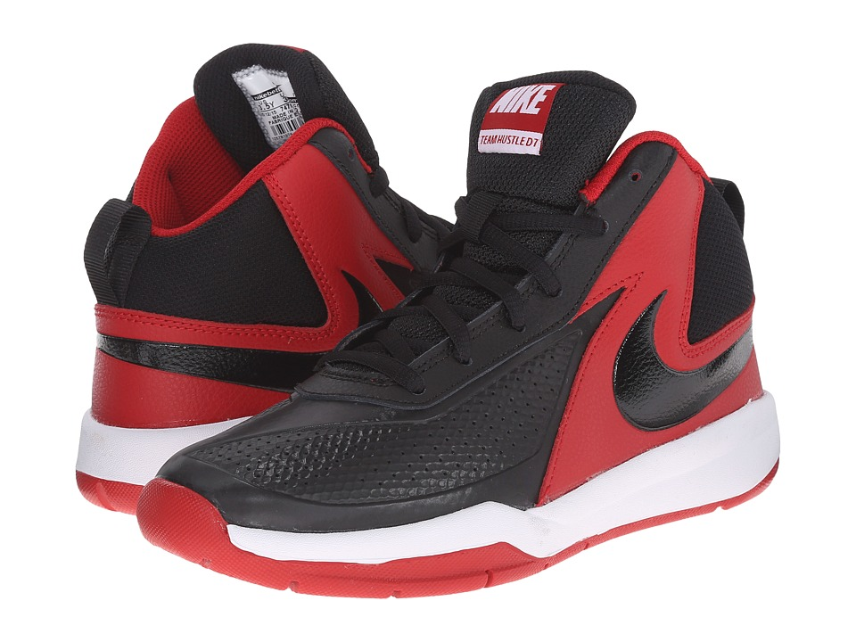 Nike Kids - Team Hustle D 7 (Big Kid) (Black/Gym Red/White/Black) Boys Shoes