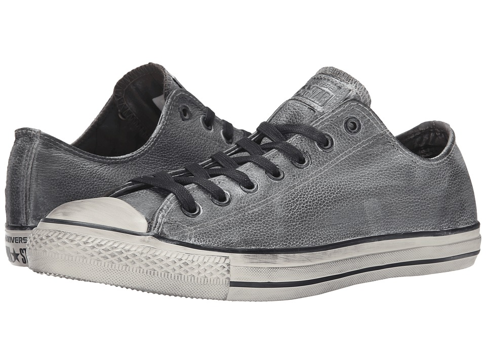 Converse by John Varvatos Chuck Taylor All Star Ox (Wrinkled Leather Black/Beluga/Turtledove) Shoes