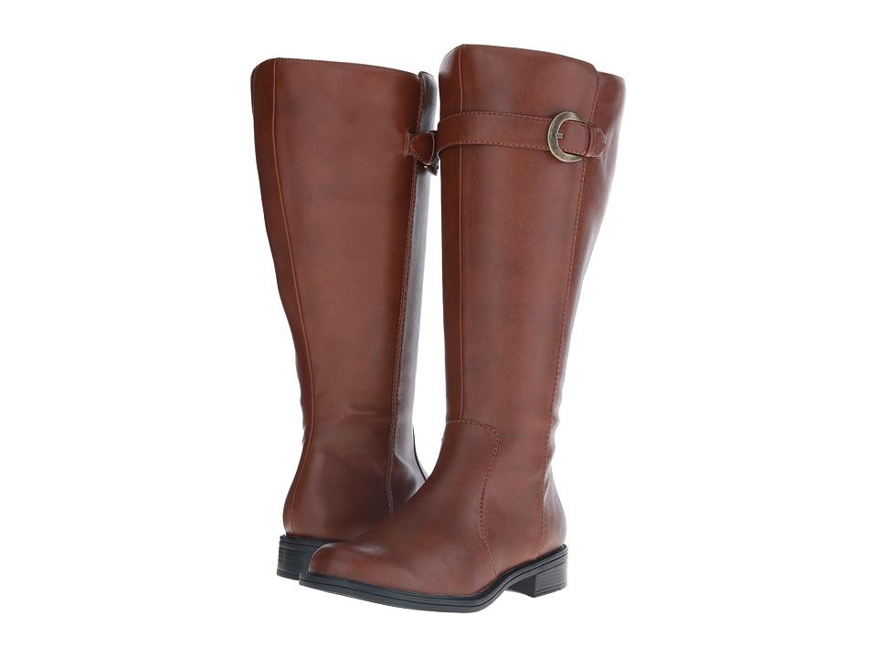 David Tate - Stallion Wide Shaft (Luggage) Women's Zip Boots