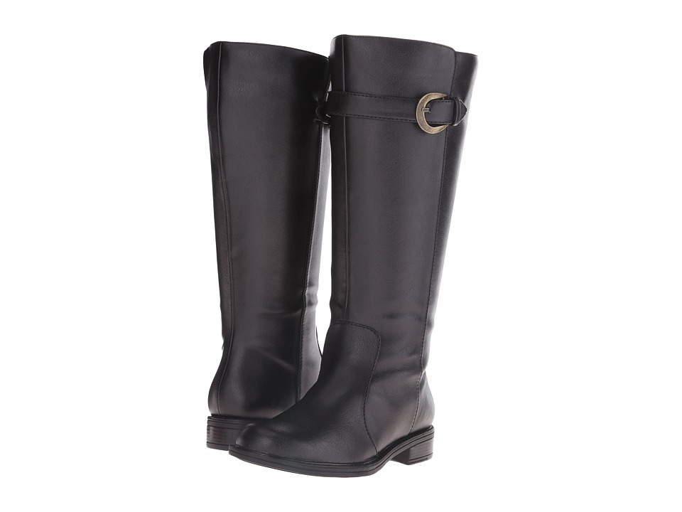 David Tate - Stallion Wide Shaft (Black) Women's Zip Boots