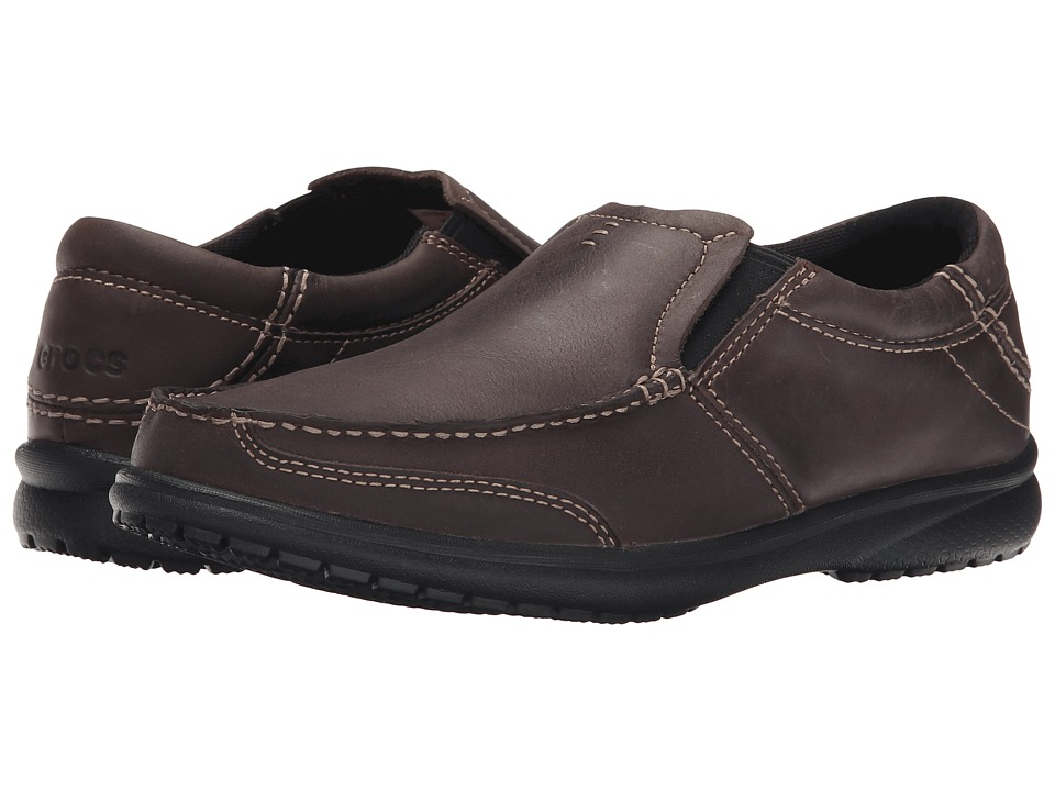 Crocs - Leather Loafer (Espresso/Black) Men