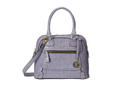 London Fog - Knightsbridge Small Dome (Lavendar Croc) Satchel Handbags