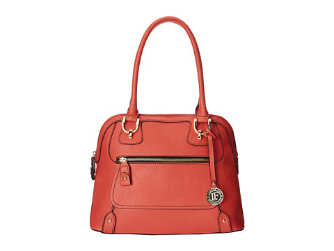 London Fog - Knightsbridge Dome (Red (Tigerlily)) Shoulder Handbags