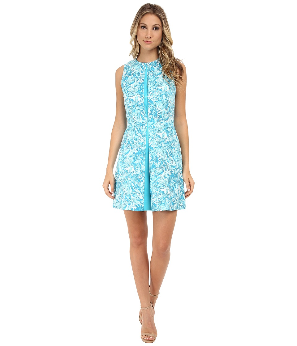 MICHAEL Michael Kors - Pleat Party Dress (Turquoise) Women's Dress