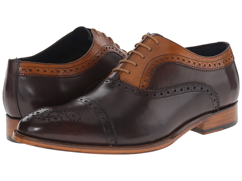 Messico - Antonio (Vintage Dark Brown/Honey Leather) Men's Flat Shoes