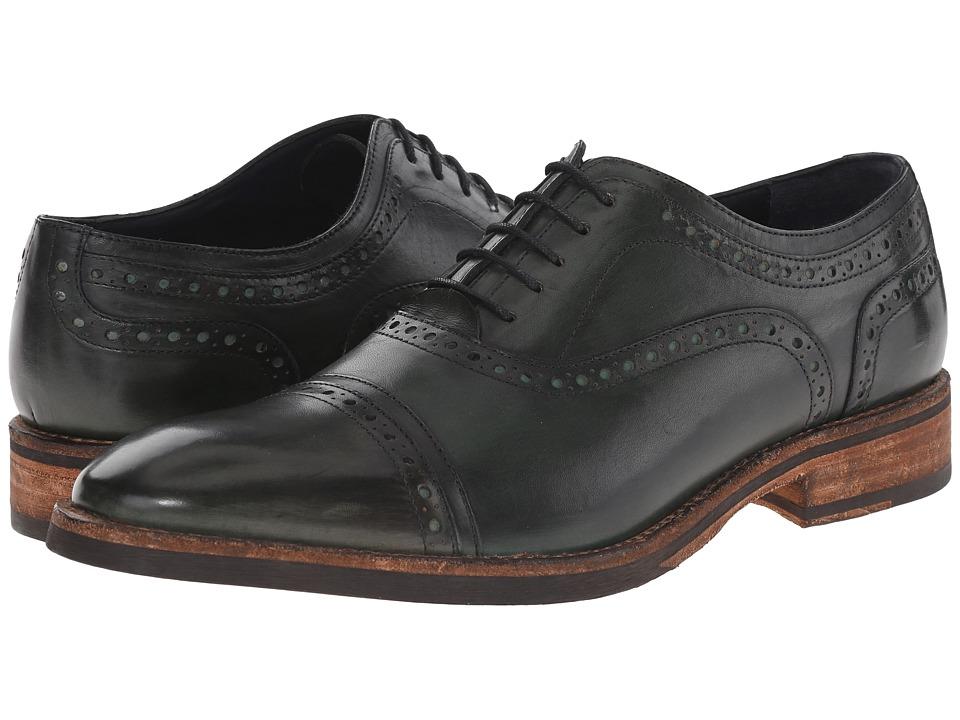 Messico - Elias (Green Leather) Men's Flat Shoes
