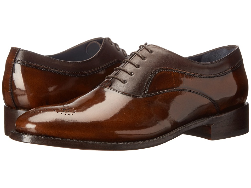 Messico - Jaime Welt (Antiqued Brown/Dark Brown Leather) Men's Flat Shoes