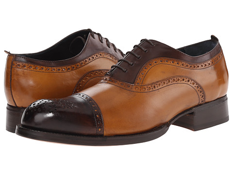 Messico - Lorenzo Welt (Dark Brown/Honey Leather) Men's Flat Shoes