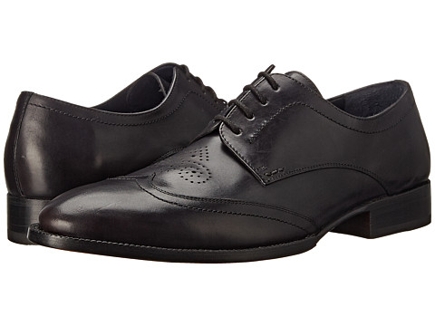 Messico - Omar Welt (Black Leather) Men's Flat Shoes