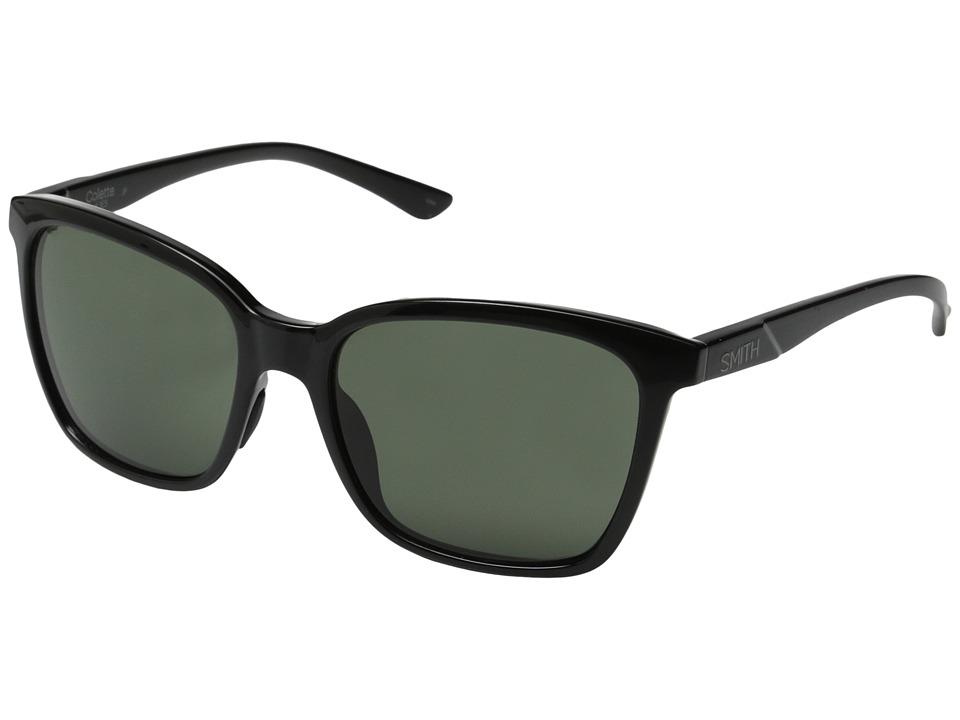 Smith Optics - Colette (Black/Polar Gray Green Carbonic TLT Lenses) Fashion Sunglasses