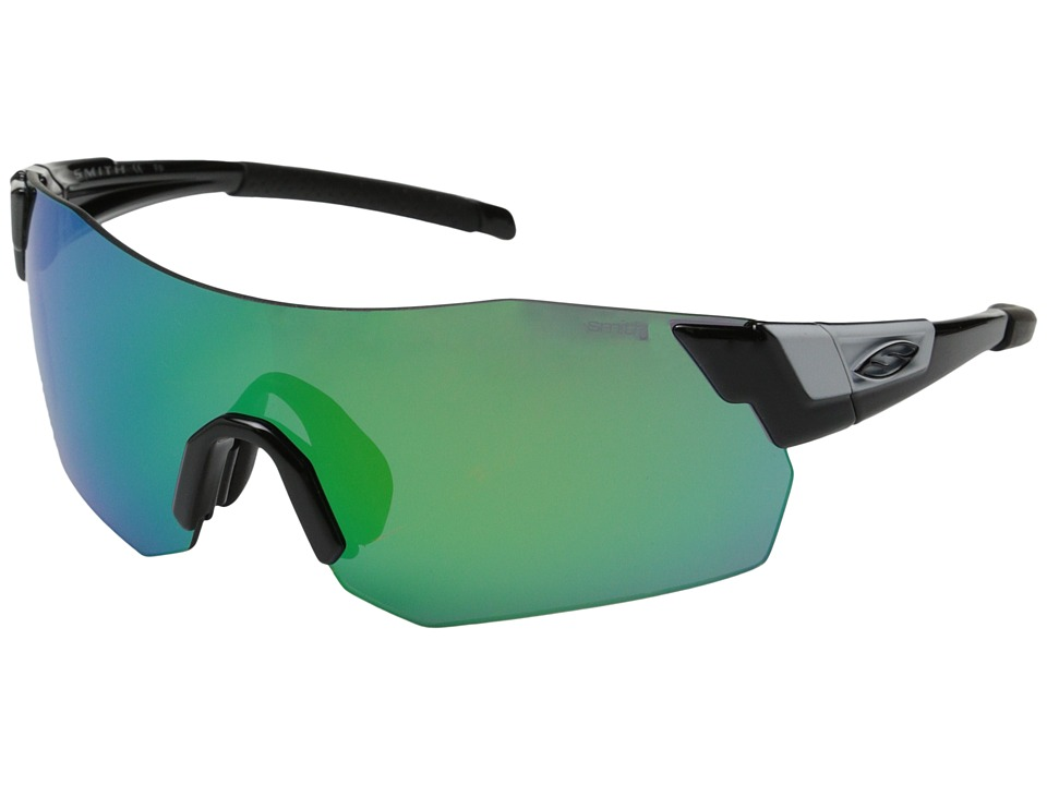 Smith Optics - Pivlock Arena Max (Black/Green Sol-X/Lgnitor/Clear Carbonic TLT Lenses) Fashion Sunglasses