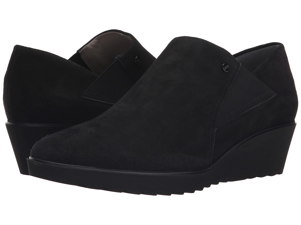 ara - McBride (Black Suede) Women's Wedge Shoes