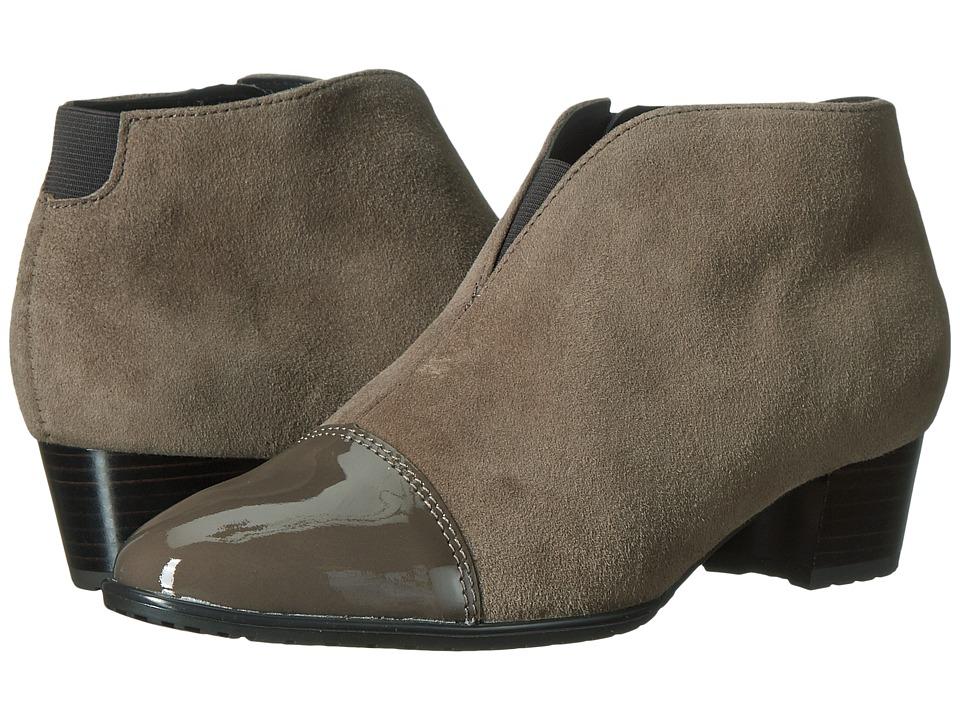 ara Palmer (Alpaca Suede/Piombo Patent Toe) Women
