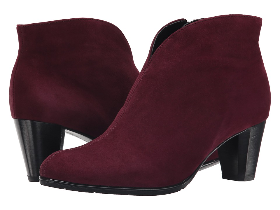 ara - Tricia (Burgundy Suede) Women's Dress Pull-on Boots
