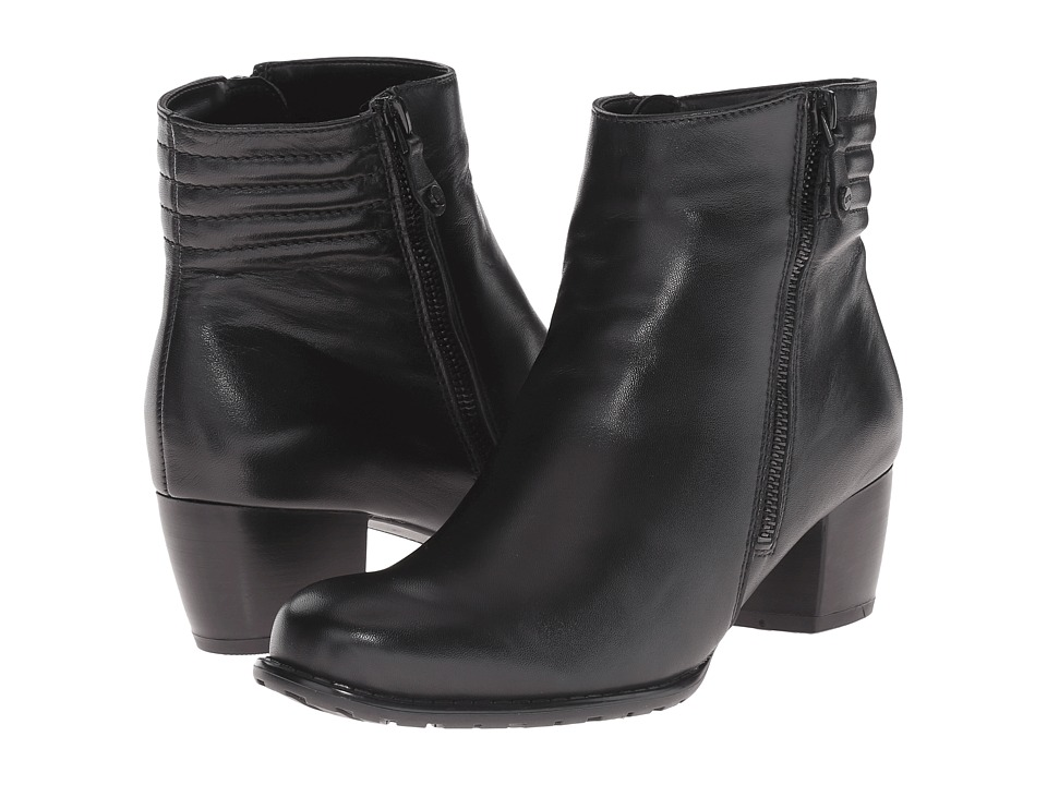 ara - Florrie (Black Leather) Women's Zip Boots