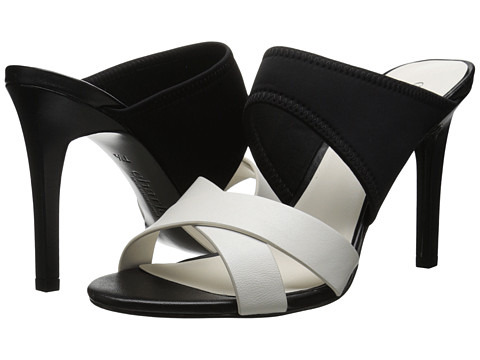 Charles by Charles David - Irony (Black/White Smooth/Lycra) High Heels