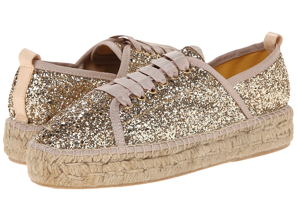 Charles by Charles David - Sante (Gold Glitter Canvas) Women's Lace up casual Shoes