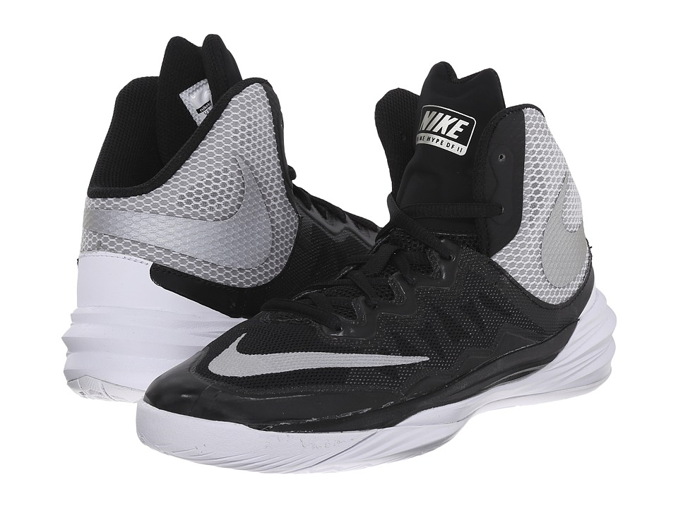 Nike Kids - Prime Hype DF II (Big Kid) (Black/White/Silver/Reflect Silver) Boys Shoes