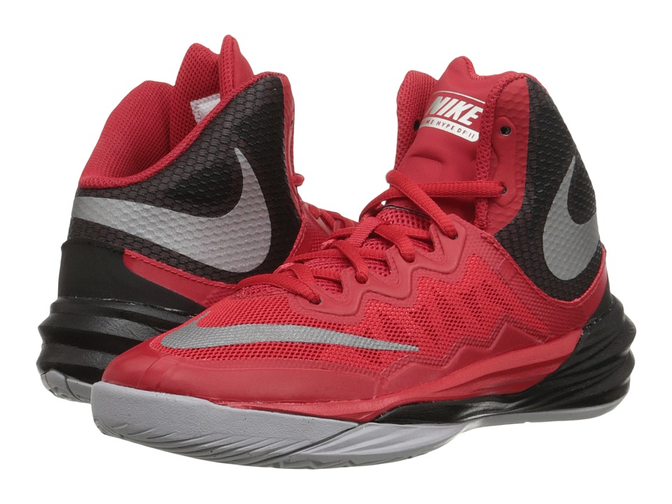 Nike Kids - Prime Hype DF II (Big Kid) (University Red/Black/Wolf Grey/Reflect Silver) Boys Shoes
