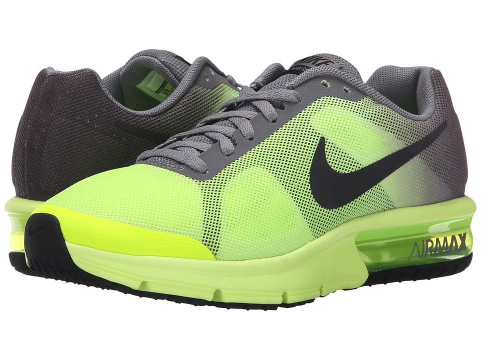 Nike Kids - Air Max Sequent (Big Kid) (Volt/Cool Grey/Black) Boys Shoes