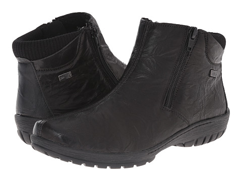 Rieker - R6884 (Black Ottawa/Black Gargano/Black Fineknit) Women's Dress Boots