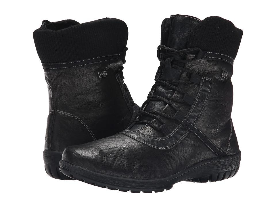 Rieker - R6881 Gergette 81 (Black Ottawa/Black Gargano/Black Fineknit) Women's Dress Boots