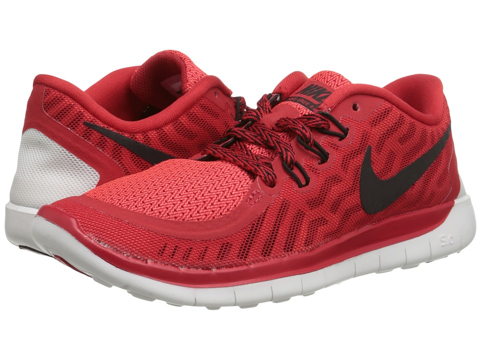 Nike Kids - Free 5.0 (Big Kid) (University Red/Hyper Orange/White/Black) Boys Shoes