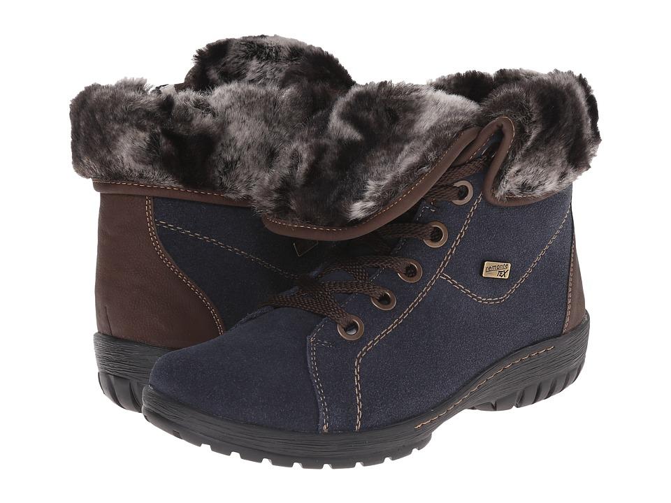 Rieker - R6890 (Pilot Samtcalf/Kakao Nil/Granit Rabbit) Women's Zip Boots