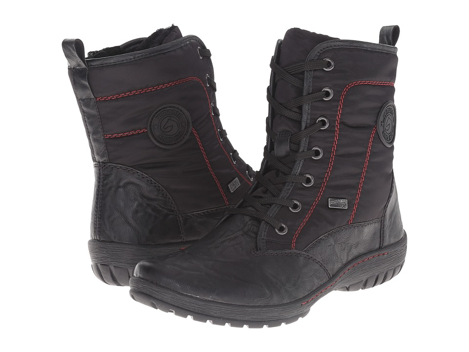 Rieker - R6894 (Black Gargano/Black Singapur) Women's Dress Boots