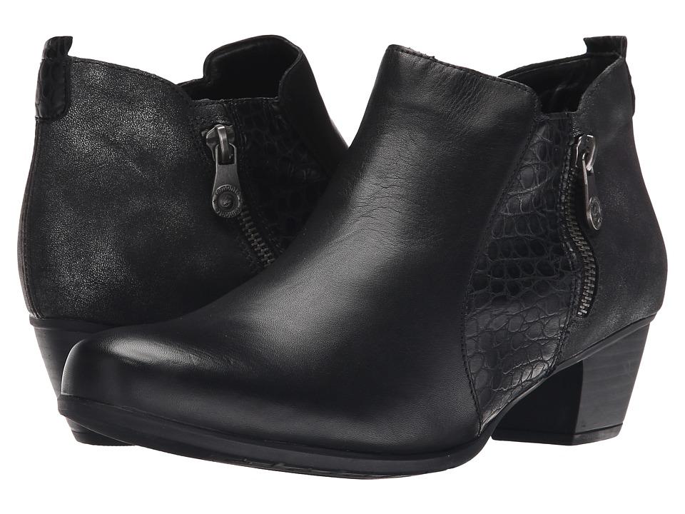 Rieker - R9188 (Schwarz Cristallino/Schwarz Kiama/Graphit Olymp) Women's Dress Boots