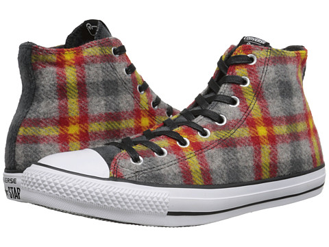 Converse - Chuck Taylor All Star Woolrich Hi (Casino/Yellow Bird/White) Classic Shoes
