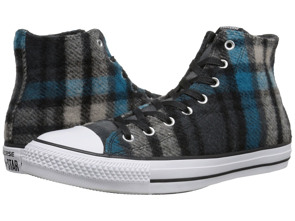 Converse - Chuck Taylor All Star Woolrich Hi (Black/Papyrus/Cyan Space) Classic Shoes