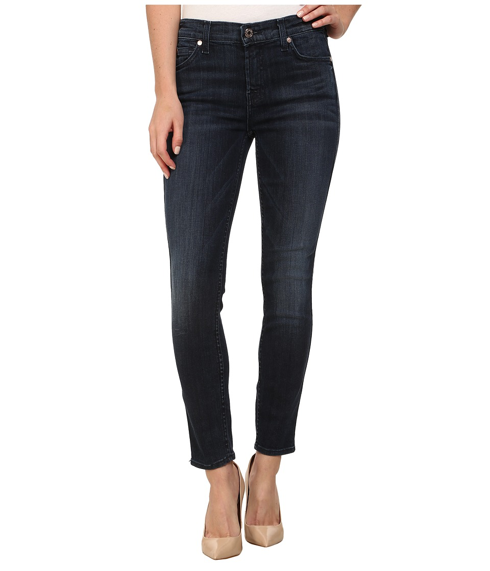 7 For All Mankind - The Crop Skinny Jean in Whiskered Medium Dark (Whiskered Medium Dark) Women's Jeans