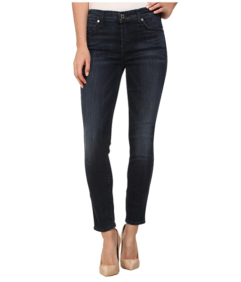7 For All Mankind - The Crop Skinny Jean in Whiskered Medium Dark (Whiskered Medium Dark) Women