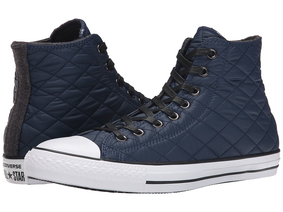 Converse - Chuck Taylor All Star Quilted Hi (Nighttime Navy/Black) Men's Classic Shoes