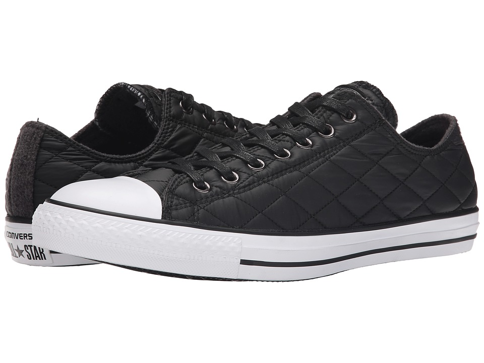 Converse - Chuck Taylor(r) All Star(r) Quilted Ox (Black/Black/White) Men's Classic Shoes