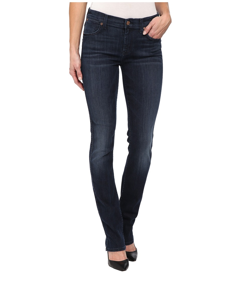 7 For All Mankind - The Modern Straight in Whiskered Medium Dark (Whiskered Medium Dark) Women's Jeans
