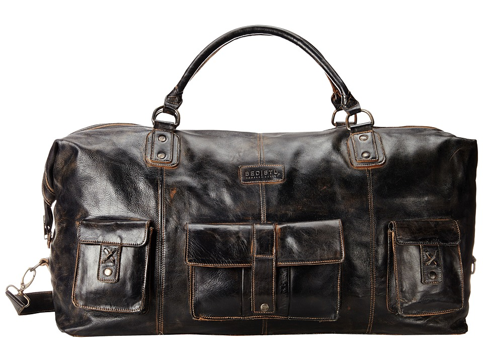 Bed Stu - Exile (Black Rustic/Rust Leather) Bags