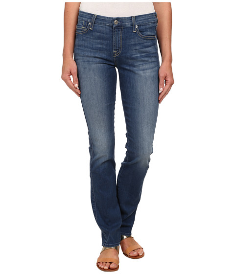 7 For All Mankind - Kimmie Straight in Slim Illusion Atmosphere Medium Blue (Slim Illusion Atmosphere Medium Blue) Women's Jeans