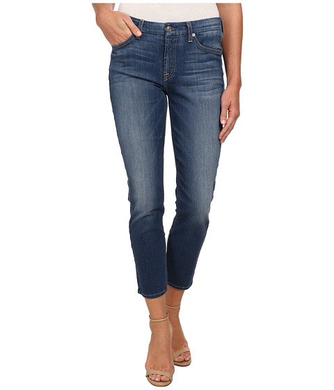 7 For All Mankind - Kimmie Crop in Slim Illusion Atmosphere Medium Blue (Slim Illusion Atmosphere Medium Blue) Women